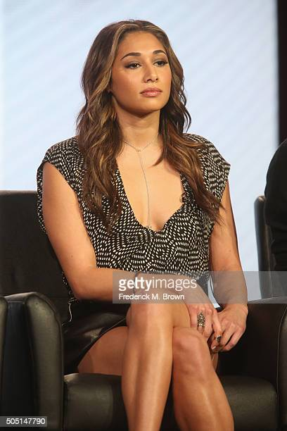 Actress Meaghan Rath speaks onstage during The Passion panel discussion at the FOX portion of the 2015 Winter TCA Tour at the Langham Huntington...