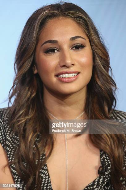"""Actress Meaghan Rath speaks onstage during """"The Passion"""" panel discussion at the FOX portion of the 2015 Winter TCA Tour at the Langham Huntington..."""