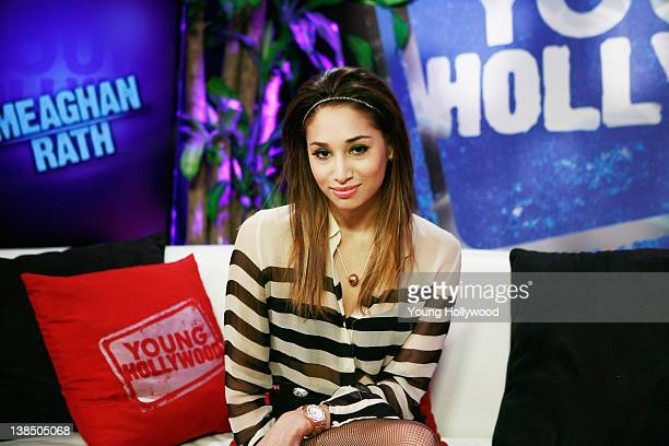 Actress Meaghan Rath visits Young Hollywood Studio on February 6 2012 in Los Angeles California
