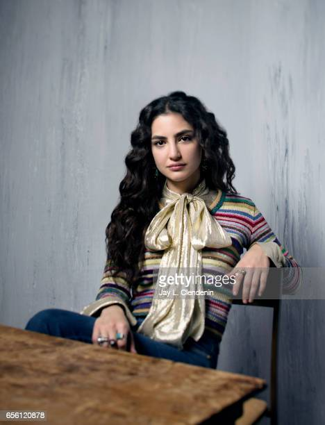 Actress Medalion Rahimi from the film Before I Fall is photographed at the 2017 Sundance Film Festival for Los Angeles Times on January 20 2017 in...