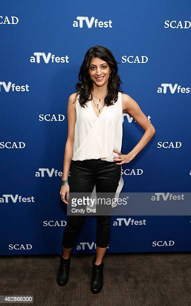 Actress Meera Rohit Kumbhani attends the 'Weird Loners' press junket during aTVfest presented by SCAD on February 6 2015 in Atlanta Georgia