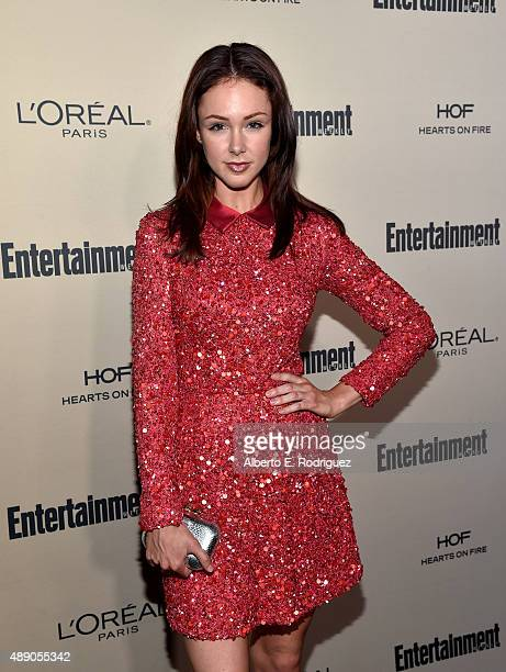 Actress Meg C Steedle attends the 2015 Entertainment Weekly Pre-Emmy Party at Fig & Olive Melrose Place on September 18, 2015 in West Hollywood,...