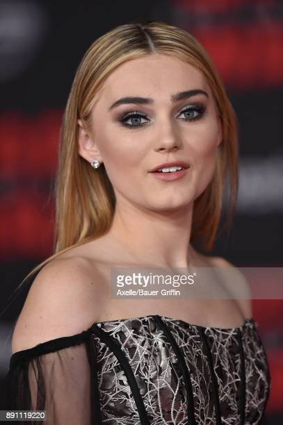Actress Meg Donnelly attends the Los Angeles premiere of 'Star Wars The Last Jedi' at The Shrine Auditorium on December 9 2017 in Los Angeles...