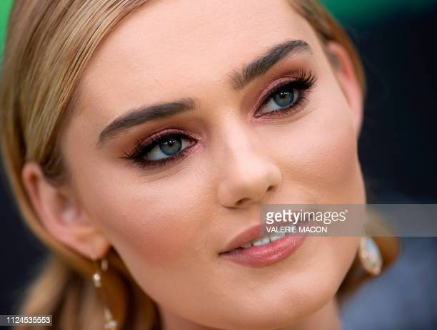 Actress Meg Donnelly attends the world premiere of Disney channel original movie 'Kim Possible' in North Hollywood California on February 12 2019