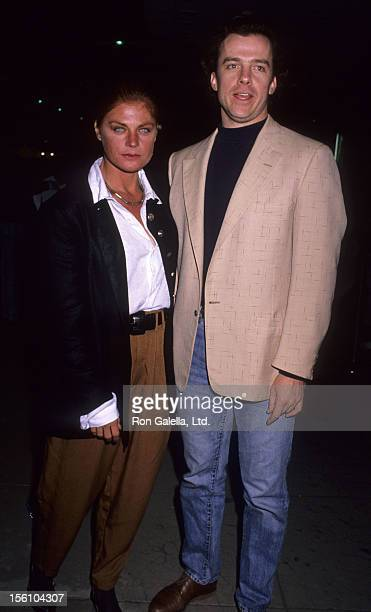 Actress Meg Foster and actor Michael O'Keefe attend the premiere of 'No Place Like Home' on November 27 1989 at the Beverly Hills Music Hall in...