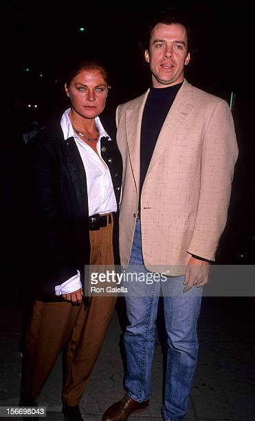 Actress Meg Foster and actor Michael O'Keefe attend the premiere of No Place Like Home on November 27 1989 at the Beverly Hills Music Hall in Beverly...