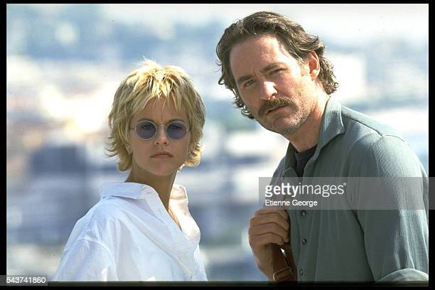 Actress Meg Ryan and Actor Kevin Kline on the set of the film French Kiss directed by Lawrence Kasdan