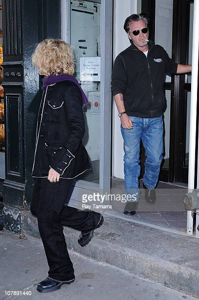 Actress Meg Ryan and singer John Mellencamp leave EAT restaurant on January 5 2011 in New York City