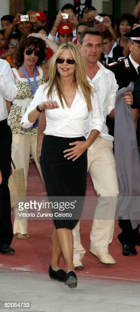 Actress Meg Ryan arrives at the Giffoni Film Festival on July 24 2008 in Giffoni Italy
