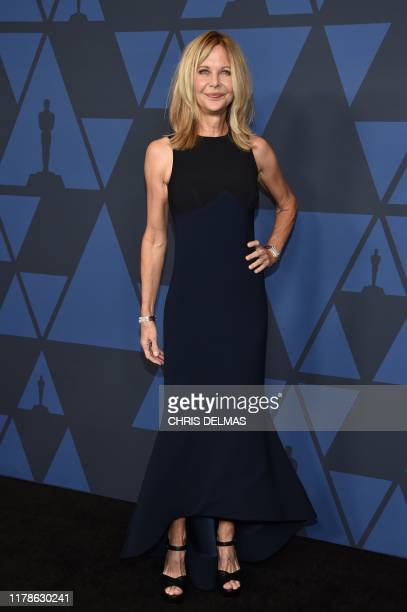 US actress Meg Ryan arrives to attend the 11th Annual Governors Awards gala hosted by the Academy of Motion Picture Arts and Sciences at the Dolby...
