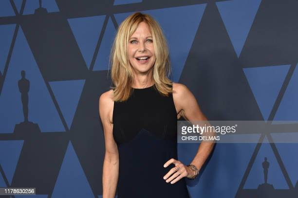 Actress Meg Ryan arrives to attend the 11th Annual Governors Awards gala hosted by the Academy of Motion Picture Arts and Sciences at the Dolby...