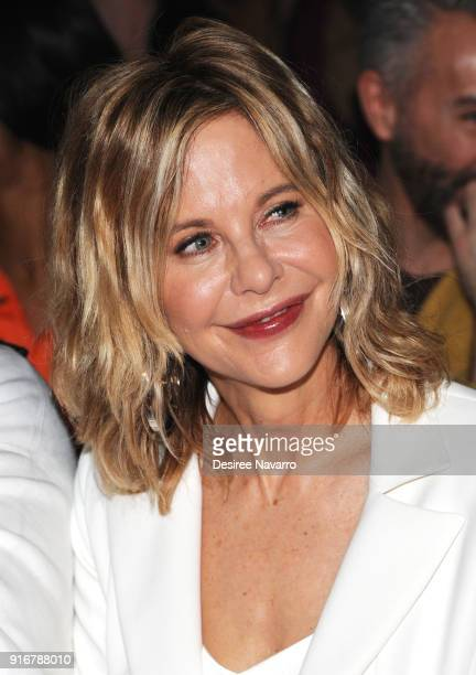 Actress Meg Ryan attends the Christian Siriano fashion show during New York Fashion Week at the Grand Lodge on February 10 2018 in New York City