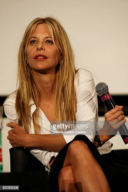 Actress Meg Ryan attends the Giffoni Film Festival on July 24 2008 in Giffoni Italy