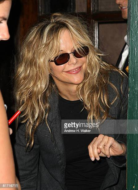Actress Meg Ryan attends the reception for Gonzo The Life and Work of Dr Hunter S Thompson on June 25 2008 at The Waverly Inn in New York City