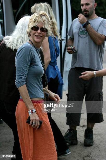 Actress Meg Ryan backstage at Ben Harpers set during the Austin City Limits Music Festival at Zilker Park on October 4 2009 in Austin Texas