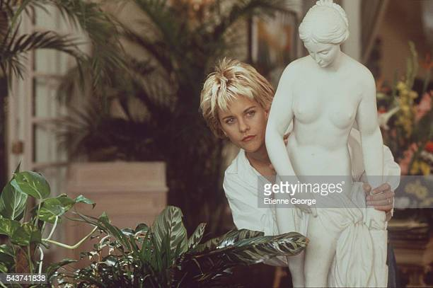 Actress Meg Ryan on the set of the film French Kiss directed by Lawrence Kasdan