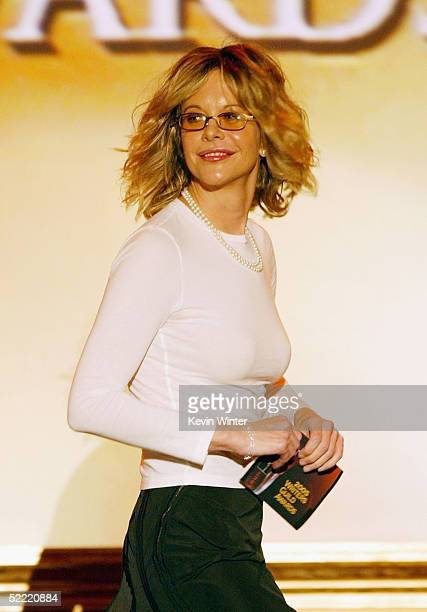 Actress Meg Ryan presents at the 57th Annual Writers Guild Awards at the Hollywood Palladium on February 19 2005 in Los Angeles California
