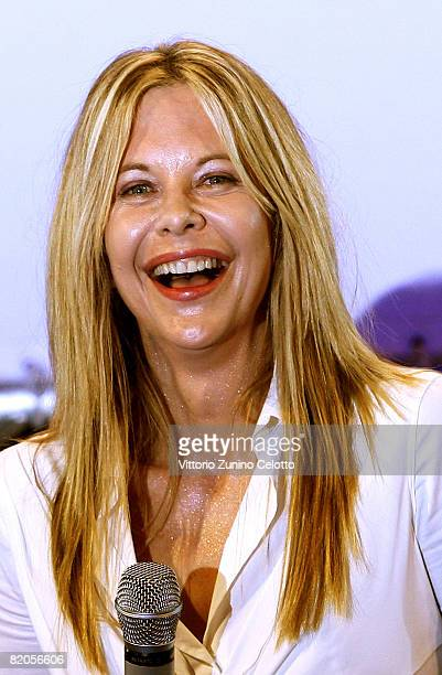 Actress Meg Ryan receives the Francois Truffaut Award during the Giffoni Film Festival on July 24 2008 in Giffoni Italy