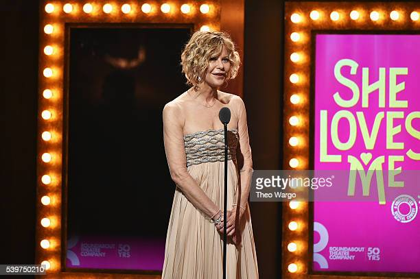 Actress Meg Ryan speaks onstage during the 70th Annual Tony Awards at The Beacon Theatre on June 12 2016 in New York City