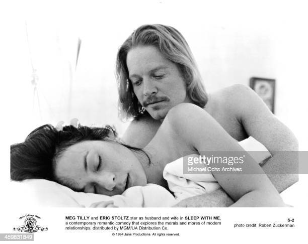 Actress Meg Tilly and Eric Stoltz on set of the movie Sleep with Me circa 1994