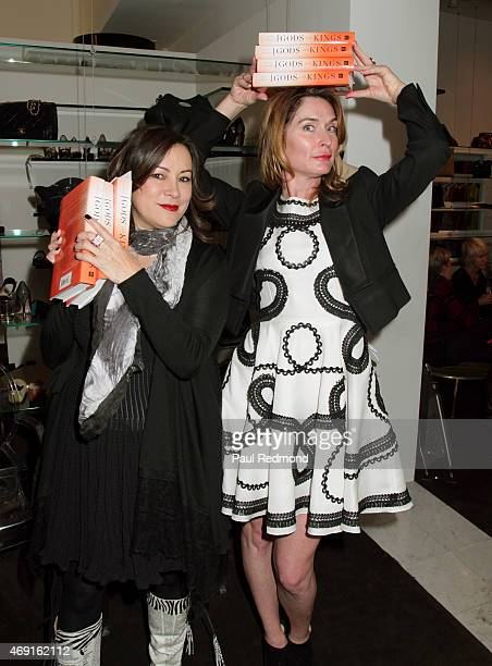 Actress Meg Tilly and fashion designer Amber Sakai attend 'Gods Kings The Rise And Fall Of Alexander McQueen And John Galliano' book launch party at...