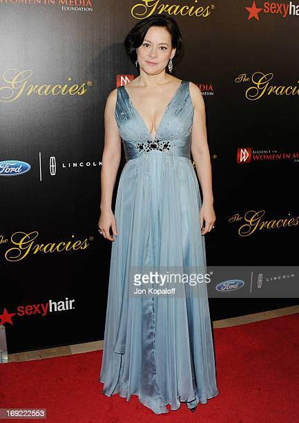 Actress Meg Tilly arrives 38th Annual Gracie Awards Gala at The Beverly Hilton Hotel on May 21 2013 in Beverly Hills California