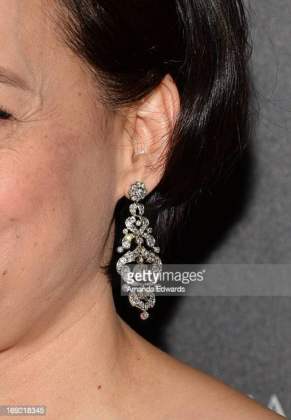 Actress Meg Tilly arrives at the 38th Annual Gracie Awards Gala at The Beverly Hilton Hotel on May 21 2013 in Beverly Hills California