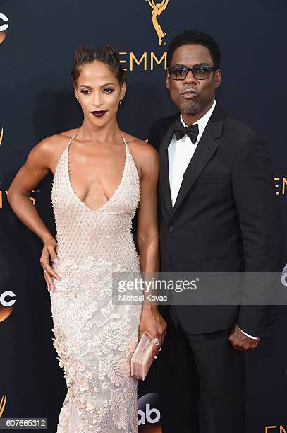 Actress Megalyn Echikunwoke and actor Chris Rock attend the 68th Annual Primetime Emmy Awards at Microsoft Theater on September 18 2016 in Los...