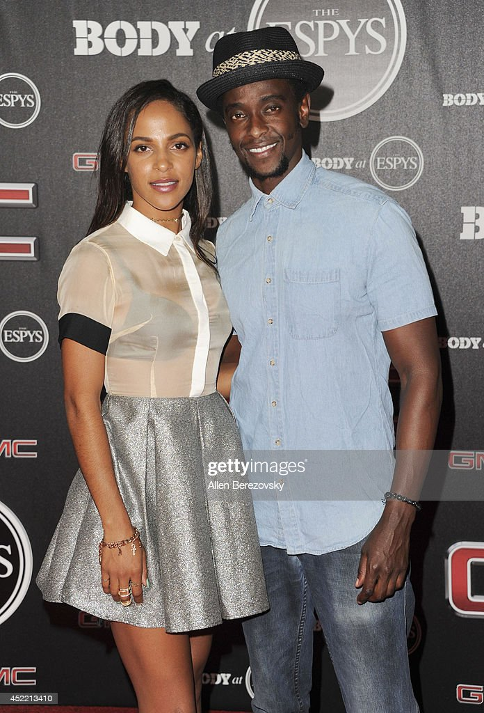 Actress Megalyn Echikunwoke and actor Edi Gathegi attend ESPN Presents BODY At ESPYS Pre-Party at Lure on July 15, 2014 in Hollywood, California.