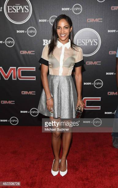 Actress Megalyn Echikunwoke arrives at the ESPN's BODY at ESPY's PreParty at Lure on July 15 2014 in Hollywood California