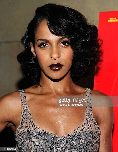 Actress Megalyn Echikunwoke arrives to the Premiere of Sony Pictures Classics' Damsels In Distress at the Egyptian Theatre on March 21 2012 in...