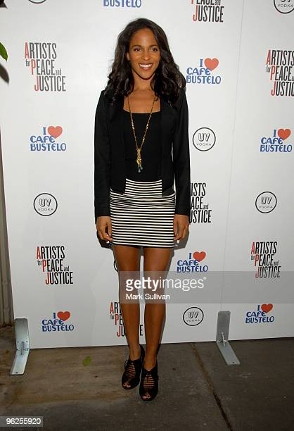 Actress Megalyn Echikunwoke attends Artists For Haiti benefit at Track 16 Gallery on January 28 2010 in Santa Monica California