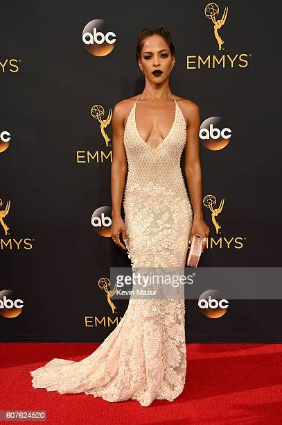 Actress Megalyn Echikunwoke attends the 68th Annual Primetime Emmy Awards at Microsoft Theater on September 18 2016 in Los Angeles California