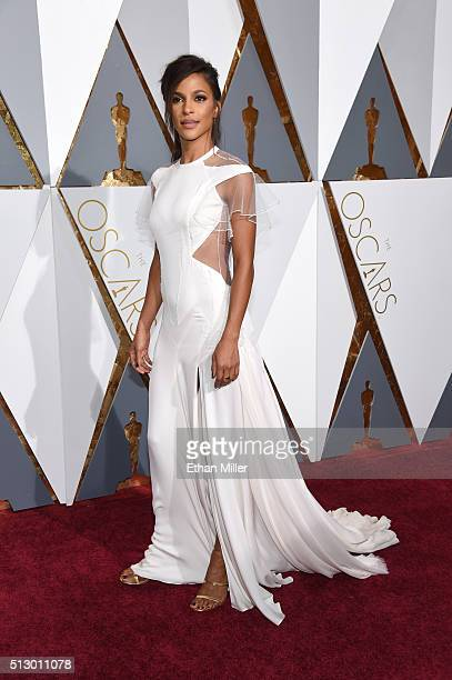 Actress Megalyn Echikunwoke attends the 88th Annual Academy Awards at Hollywood Highland Center on February 28 2016 in Hollywood California