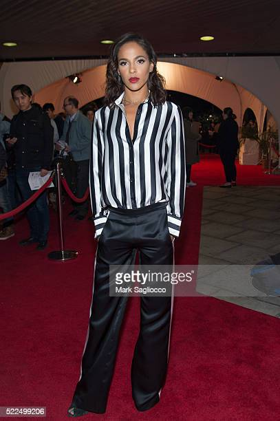 """Actress Megalyn Echikunwoke attends """"The Meddler"""" premiere during the 2016 Tribeca Film Festival at John Zuccotti Theater at BMCC Tribeca Performing..."""