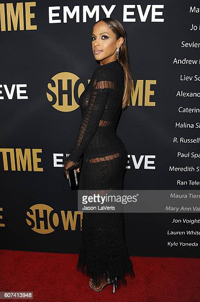 Actress Megalyn Echikunwoke attends the Showtime Emmy eve party at Sunset Tower on September 17, 2016 in West Hollywood, California.