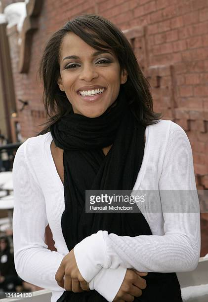 Actress Megalyn Echikunwoke of Fix poses at the Sky 360 by Delta Lounge on January 18 2008 in Park City Utah