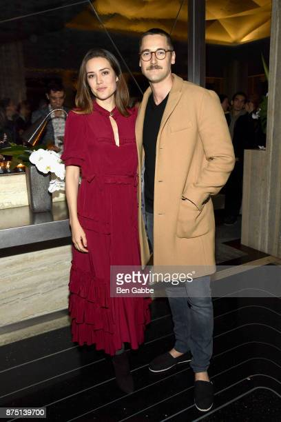 Actress Megan Boone and actor Ryan Eggold attend The Cinema Society screening of Sony Pictures Classics' 'Call Me By Your Name' after party at Bar...