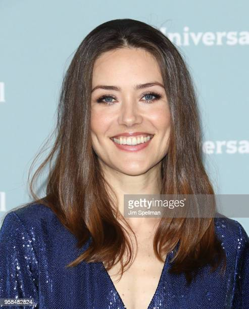 Actress Megan Boone attends the 2018 NBCUniversal Upfront presentation at Rockefeller Center on May 14 2018 in New York City