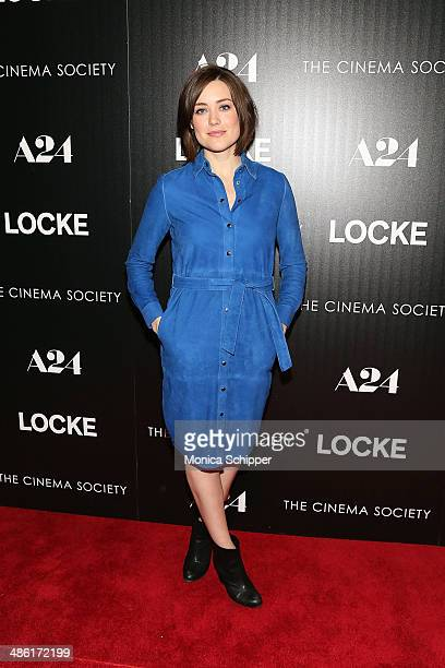 Actress Megan Boone attends the A24 and The Cinema Society premiere of 'Locke' at The Paley Center for Media on April 22 2014 in New York City