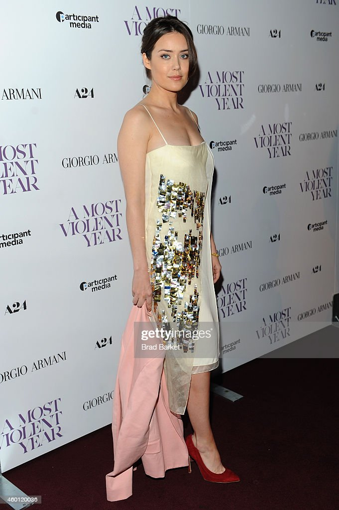 Actress Megan Boone attends the New York premiere of 'A Most Violent Year' at Florence Gould Hall on December 7, 2014 in New York City.