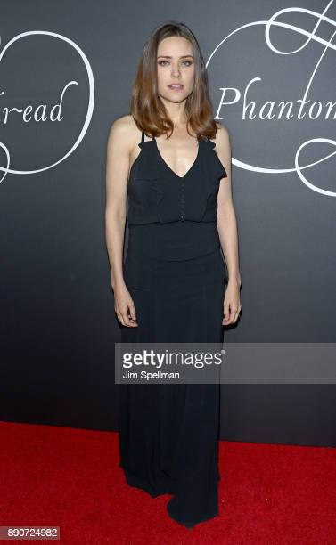 Actress Megan Boone attends the 'Phantom Thread' New York premiere at Harold Pratt House on December 11 2017 in New York City