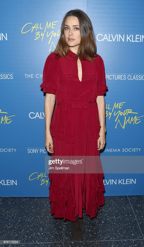 Actress Megan Boone attends the screening of Sony Pictures Classics' 'Call Me By Your Name' hosted by Calvin Klein and The Cinema Society at Museum of Modern Art on November 16, 2017 in New York City.