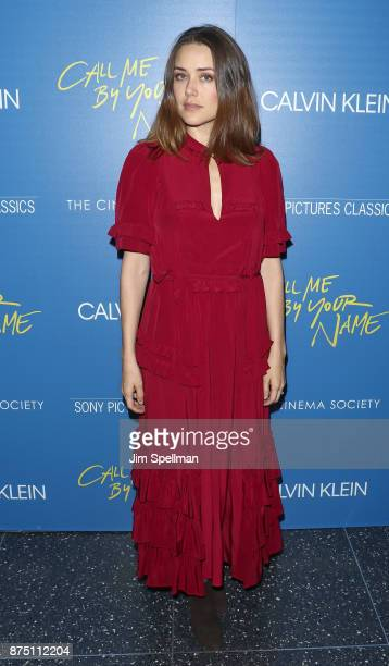 Actress Megan Boone attends the screening of Sony Pictures Classics' Call Me By Your Name hosted by Calvin Klein and The Cinema Society at Museum of...