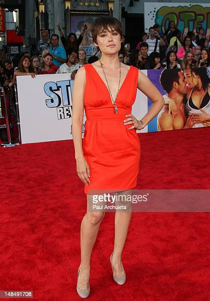 Actress Megan Boone attends the 'Step Up Revolution' Los Angeles premiere at Grauman's Chinese Theatre on July 17 2012 in Hollywood California