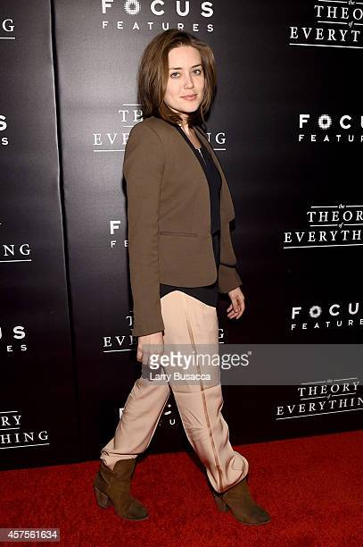 Actress Megan Boone attends The Theory Of Everything New York Premiere at Museum of Modern Art on October 20 2014 in New York City