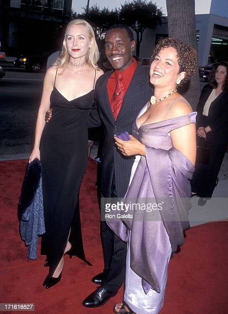 Actress Megan Dodds actor Don Cheadle and girlfriend Bridgid Coulter attend the Screening of the HBO Original Movie The Rat Pack on August 18 1998 at...