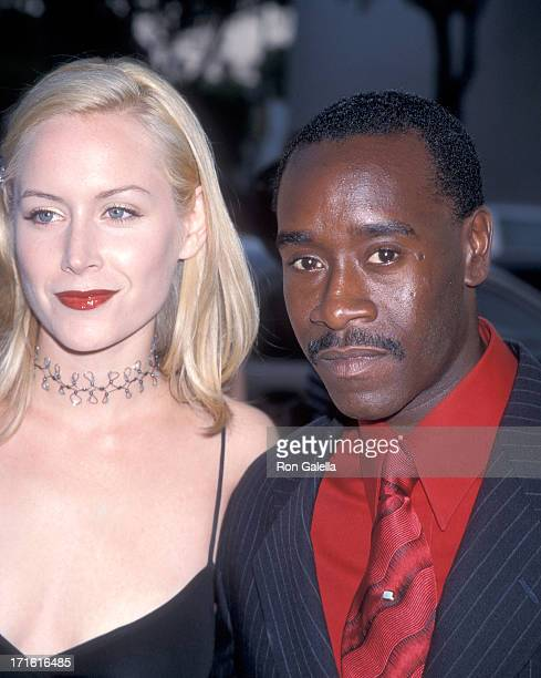 Actress Megan Dodds and actor Don Cheadle attend the Screening of the HBO Original Movie The Rat Pack on August 18 1998 at the Samuel Goldwyn Theatre...
