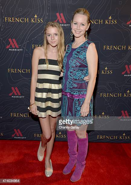 Actress Megan Dodds and daughter Isabella Pearce attends The Marriott Content Studio's French Kiss film premiere at the Marina del Rey Marriott on...