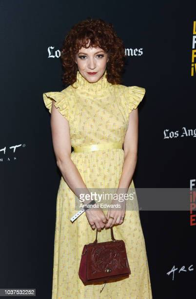 Actress Megan Duffy arrives at the 2018 LA Film Festival Gala Screening of 'The Body' at the Writers Guild Theater on September 21 2018 in Beverly...